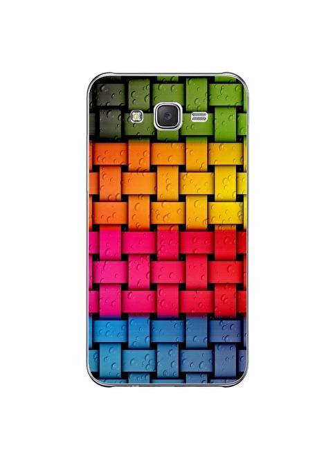 People's Cover Samsung J7 Kabartmalı Telefon Kılıfı Renkli